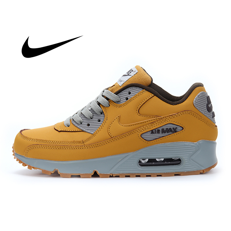 Original Nike Air Max 90 Premium Men's Running Shoes Classic Fashion Shock Absorption Sports Outdoor Breathable Sneakers 683282