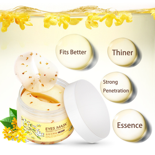 [80 pcs] brand laikou Golden Osmanthus Eye Mask Remove Wrinkle Puffiness Dark Circles Bags ,High Quality a mask for eyes care 4