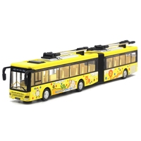 City Trolleybus Double Bus,1:48 Alloy Pull Back Double Bus Model,Toy Cars