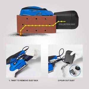 Image 4 - 240W חשמלי גיליון סנדר 20 גיליונות של Sandpapers 7 מהירות משתנה 230V אבק אוסף לטש כוח כלי על ידי PROSTORMER