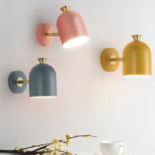 Nordic Creativity Simplicity E27 LED wall lamp AC220V indoor bedside bedroom living room restaurant lighting sconces fixture