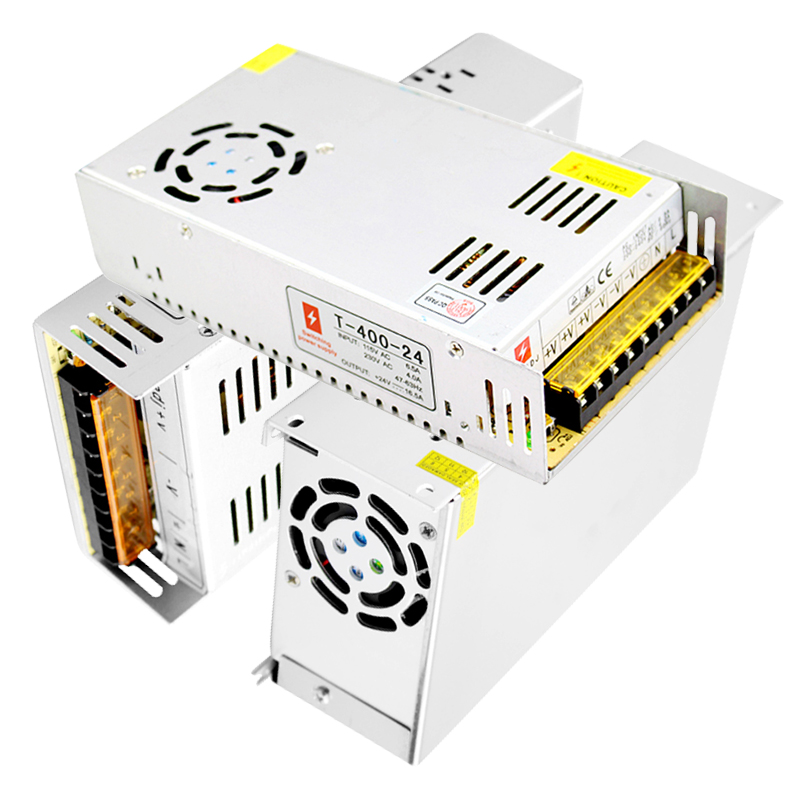 AC 220V to DC 12v Power Supply 30a 360W 40a 500W 50a 600W Source Led Switching Power Supply 12 V Led Driver Transformer