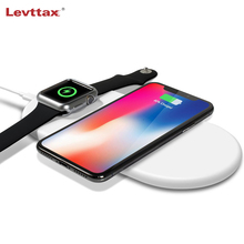Qi Wireless Charger Pad For Samung S10 Plus S9 S8 Note 10 9 8 Fast Charging Stand For Apple Watch iPhone 11 Pro XS Max XR X 8
