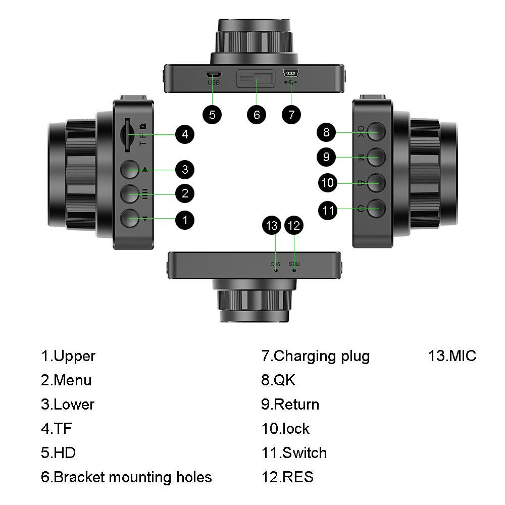 Автомобильный видеорегистратор Podofo, 3 дюйма, Full HD 1080P, видео регистратор, g-сенсор, ночное видение, циклическая запись, видеорегистратор