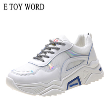 E TOY WORD Shoes Woman Thick-soled Daddy 2019 New Increase Casual Comfortable Platform Women Sneakers