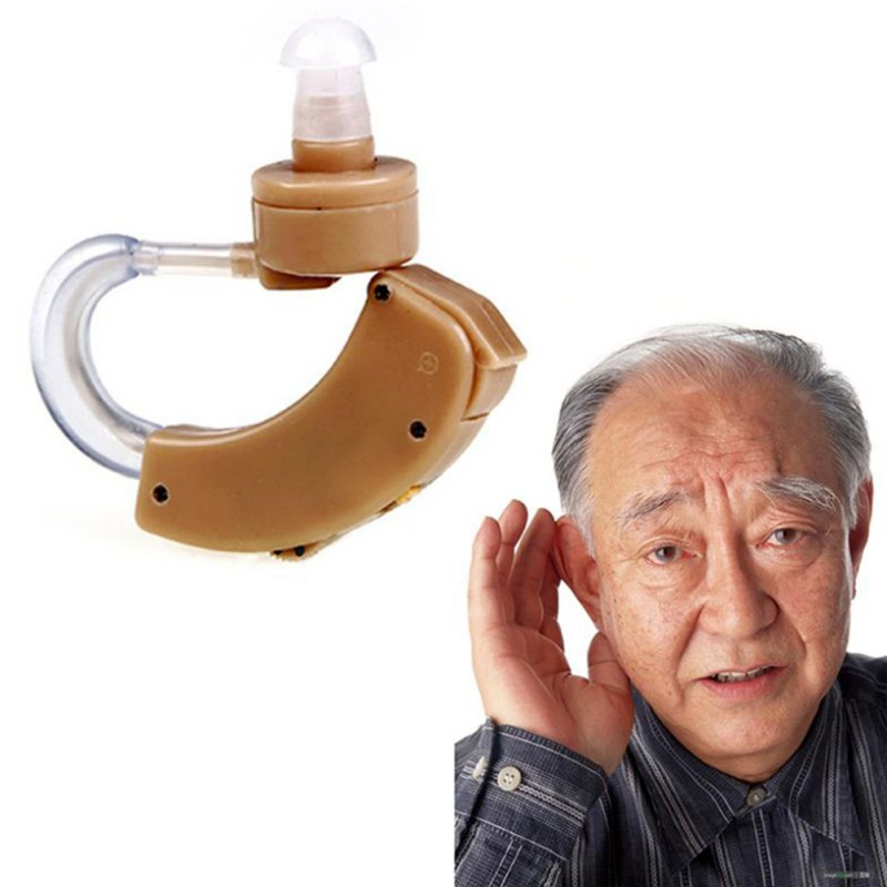 Portable elderly hearing aid behind the ear sound amplifier sound adjustable device time limit sound hearing aid
