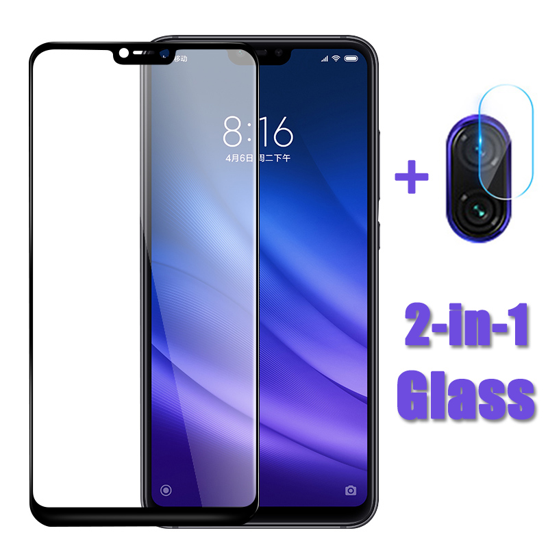 2 in 1 tempered glass for <font><b>xiaomi</b></font> 8 lite <font><b>camera</b></font> lens film mi 8 9 se protective glass xiomi mi8 <font><b>mi9</b></font> 8lite mi8lite screen <font><b>protector</b></font> image