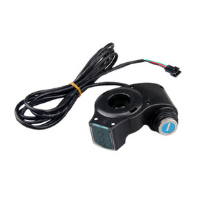 Image 5 - Electric Vehicle LCD Display Panel Thumb Throttle Voltage Key Switch Lock with Power Switch for Electric Bike/Scooter/Ebike