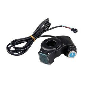 Image 5 - Verrouillage de commutateur de clé de tension daccélérateur de pouce de panneau daffichage à cristaux liquides de véhicule électrique avec le commutateur dalimentation pour le vélo électrique/Scooter/Ebike