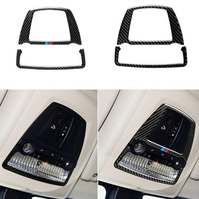 Para bmw f10 f25 x3 f26 x4 série 5 11 17 5gt f07 10 17 luz de leitura do carro de fibra de carbono capa adesivo decalque decorativo acessórios