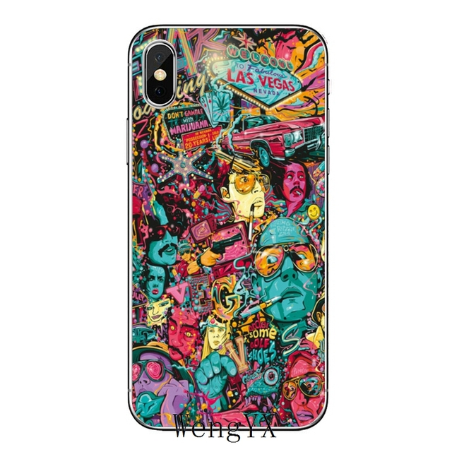 Fear And Loathing In Las Vegas For Iphone 11 Pro Xr X Xs Max 8 7 6s Plus Se 5s 5c Ipod Touch 5 6 Transparent Cover Case Half Wrapped Cases Aliexpress