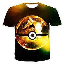 3D T-Shirt Street-Wear Pokemon Most-Popular O-Neck Customize Anime Summer Cool 110-6