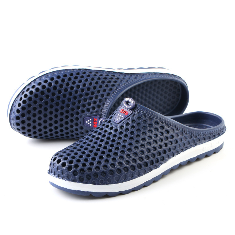 Summer Men Slippers 2019 Message Clogs Outdoor Garden Shoes Male Pool Sandals Bathroom Flip Flops Lightweight Mules Beach Slides