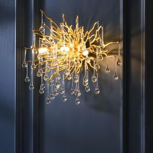 Image 1 - G9 קריסטל יוקרה LED קיר אור זהב נורדי טלוויזיה רקע קיר מנורה שליד המיטה השינה מסעדת קיר פמוטים AC90V  260 V