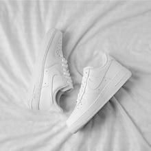 Оригинальные аутентичные мужские дышащие кроссовки для скейтбординга от Nike Air Force 1 AF1; кроссовки с низким берцем; классические спортивные кроссовки на плоской подошве для улицы