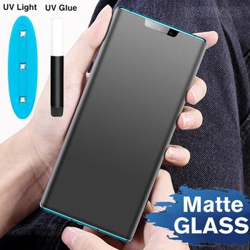 Płyn UV pełny klej matowy 9H szkło hartowane dla Huawei Mate 20 40 Honor 30 P30 P40 Pro Plus Nova 7 Pro matowy ochraniacz ekranu tanie i dobre opinie YKSPACE CN (pochodzenie) Przedni Film Mate 20 Pro P30 Pro Nova7 pro Honor 30pro HONOR 30 PRO + Mate 30 Pro P40 Pro + Matte