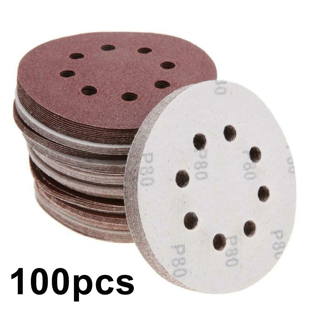 100pcs 125mm Mix Grit Sander Discs Polishing Paper Pads Abrasive Sandpaper Set For General Polishing Requirements