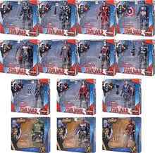 Capitão América Homem De Ferro Guerra Civil 3 Visão Homem-Formiga Pantera Negra Viúva Feiticeira Escarlate Hawkeye Figura Modelo Da Boneca