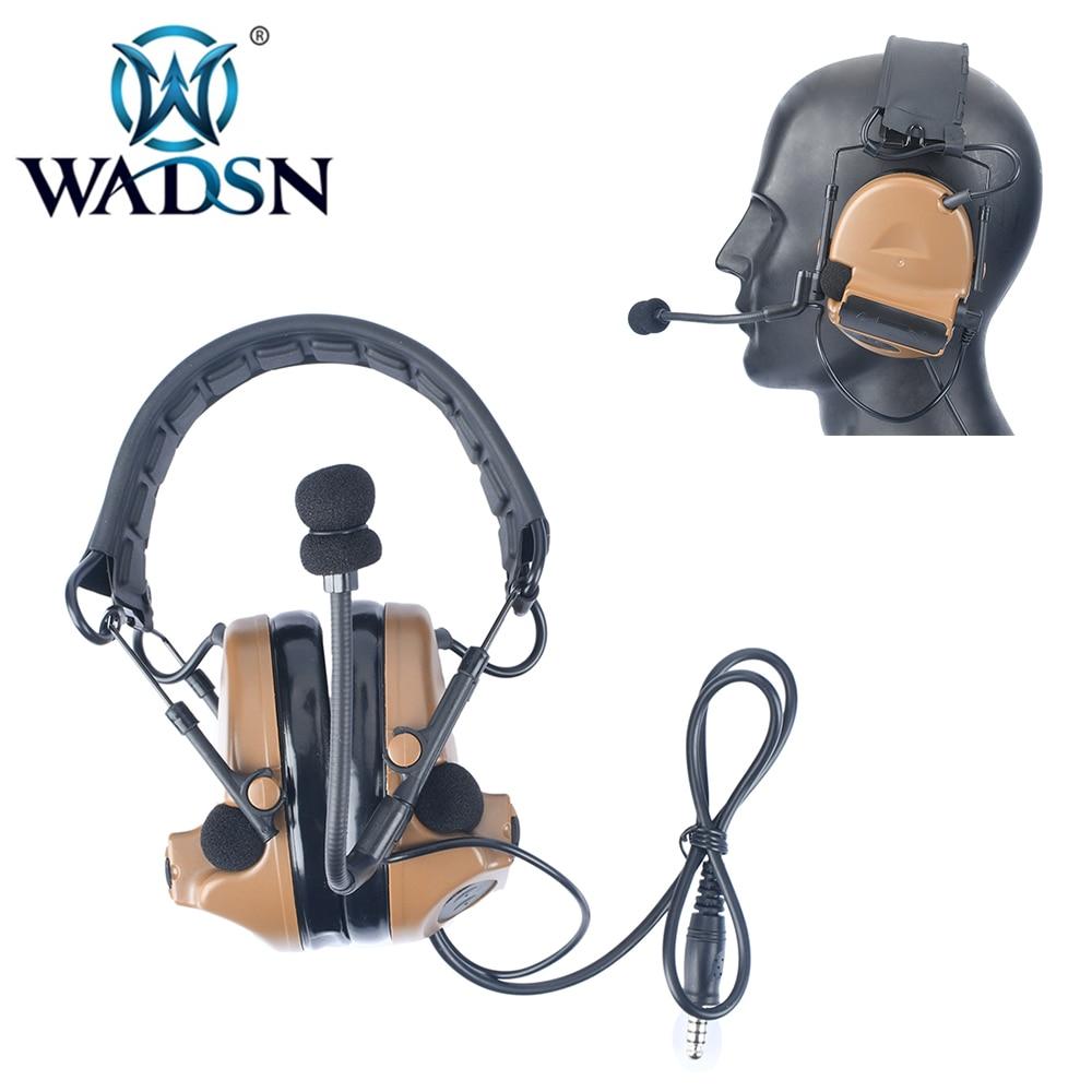 WADSN Softair Comtac II casque tactique antibruit pour Airsoft Midland/Ken PTT talkie-walkie Radio chasse Aviation WZ184