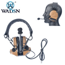 WADSN SMSR? Comtac II táctico auriculares de cancelación de ruido para Airsoft Midland/Ken PTT Radio Walkie Talkie de caza de aviación WZ184