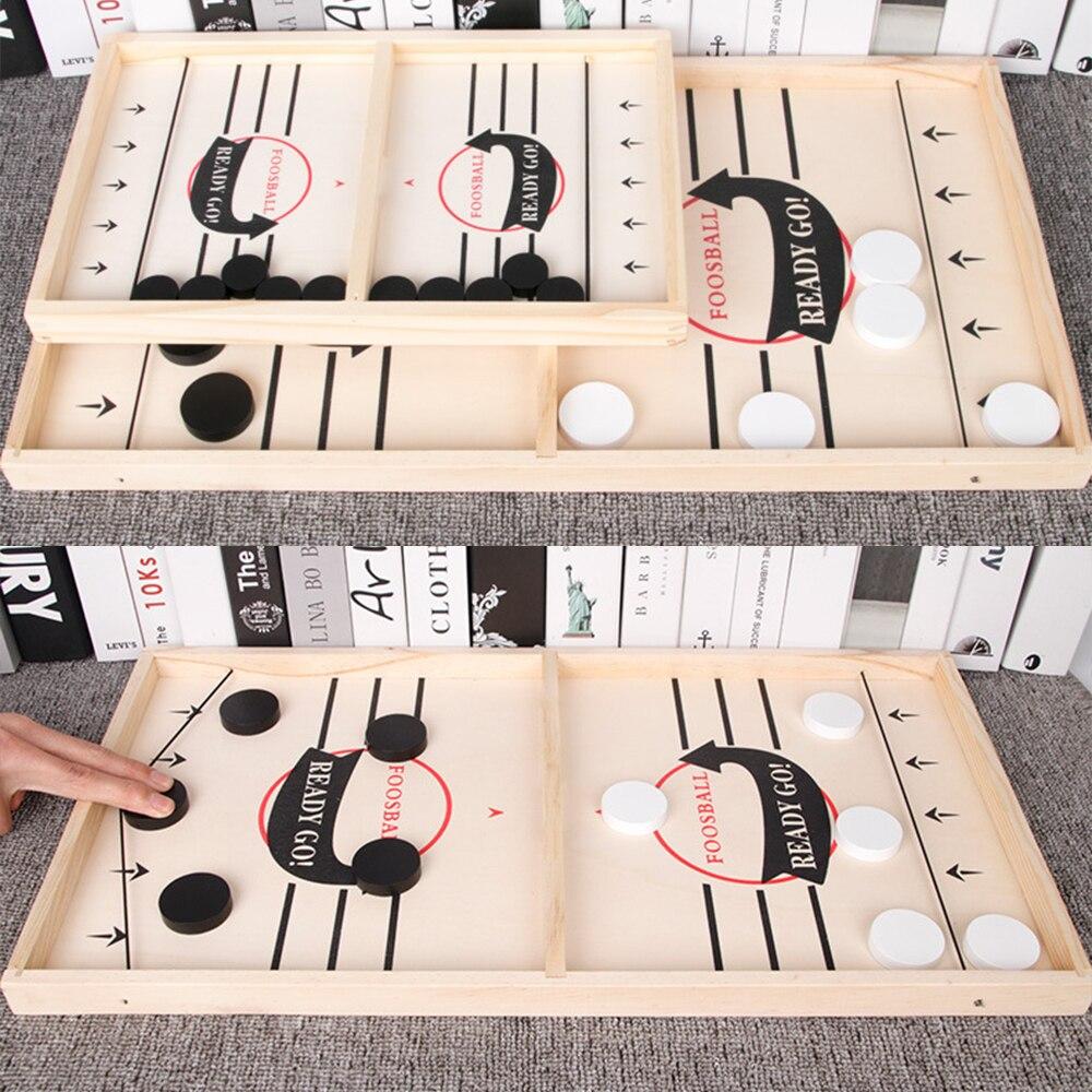Tabela rápido hóquei sling puck jogo paced sling puck vencedor diversão brinquedos festa jogo brinquedos para adulto criança família casa jogo de tabuleiro