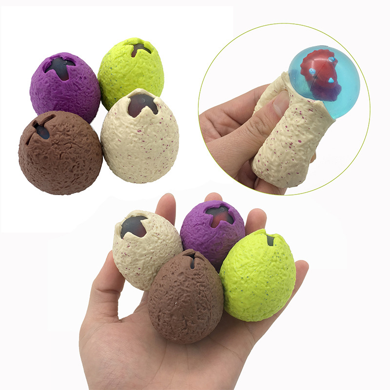 Dinosaur Egg Squeezing Baby Dragon Anti-stress Novelty Gag Toys Squishy Vent Mesh Ball Decompression Children's Toys