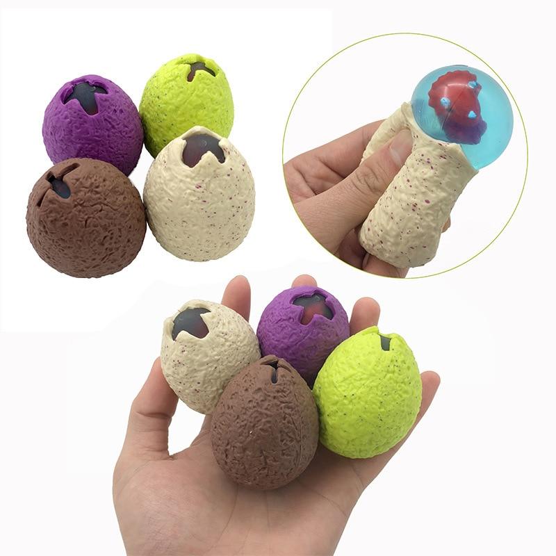 Dinosaur Egg Squeezing Baby Dragon Anti-stress Novelty Gag Toys Squishy Vent Mesh Ball Decompression Children's Toys