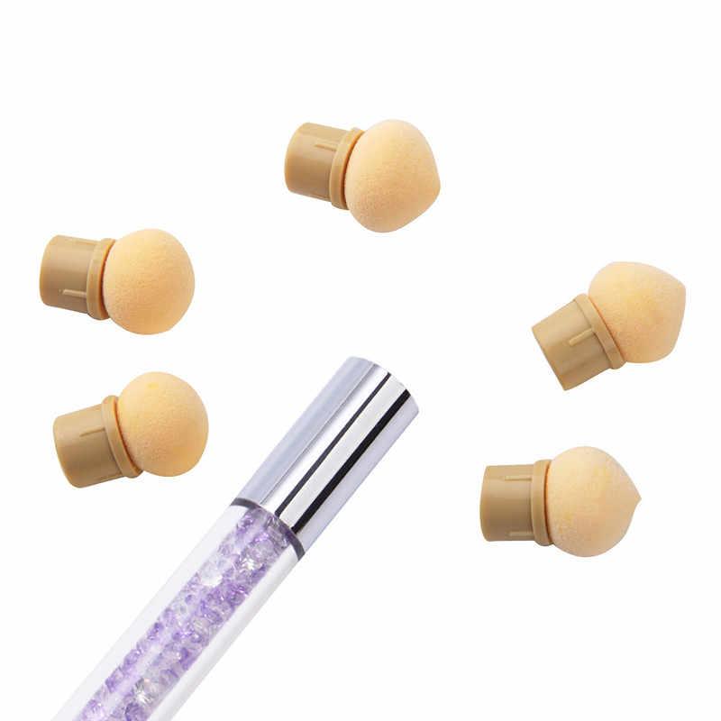 ฟองน้ำหัว Sharp รอบเปลี่ยนได้แปรง Shade Gradient ปากกาสั้นเล็บเครื่องมือ UV Gel Polish