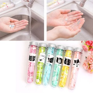 Outdoor Portable Hand Washing Bath Shower Scented Confetti Dish Foaming Mini Paper Slice Case For Travel Cleaning Color Random