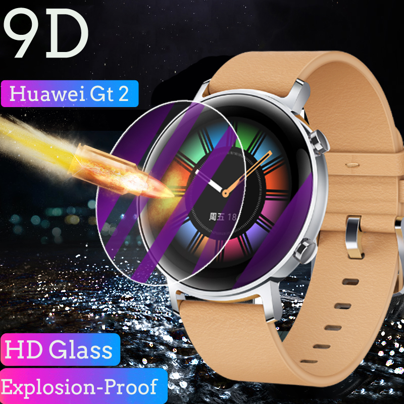 Glass For Huawei Watch Gt2 Full Tempered Glass Screen Protector Film 9H Explosion-Proof Accessories Huawei Watch Gt 2 46mm 42mm