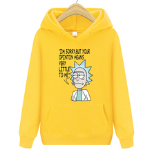 Hot Men's Hoodies Hip Hop Brand Hoodies Casual Sweatshirt with high quality Rick Morty Print Sweatshirts Male Fashion hoodie