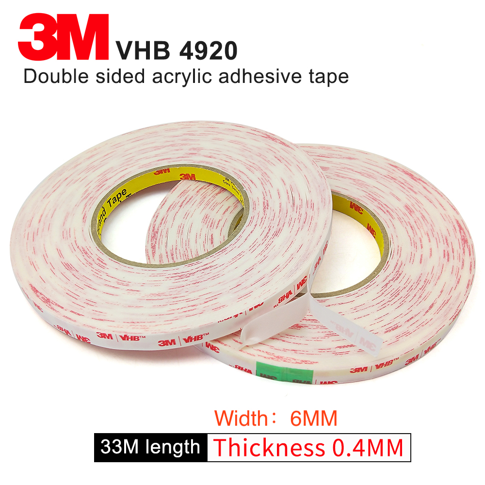 100% Original 3M VHB 4920 two face acrylic adhesive tape/high sticky tape 6mm*33m