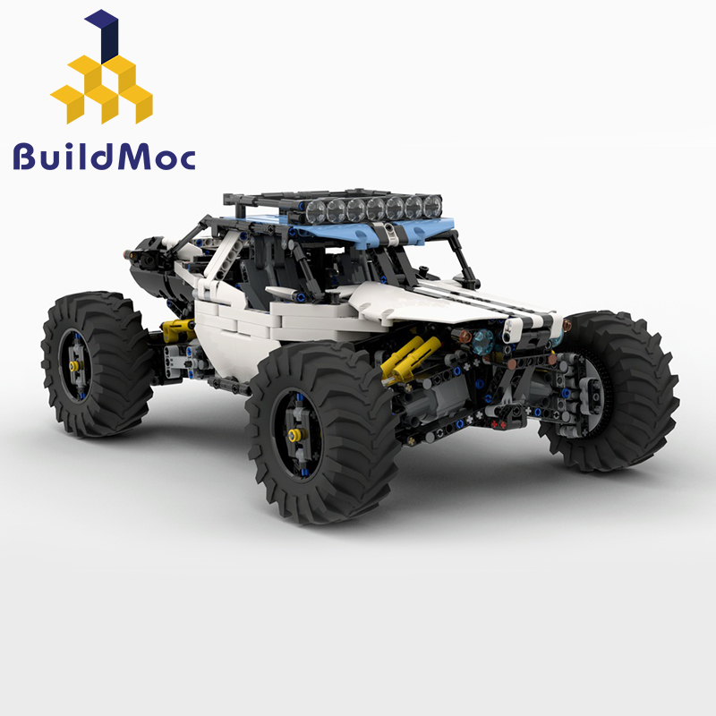 1912pcs Diy Building Blocks Moc 4WD RC Buggy for 19517 Power Function Model Educational Toys for Children Kids Birthday Gift