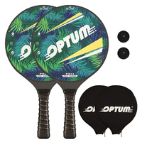 OPTUM 3K Carbon Fiber Professional Matkot Paddle Beach Tennis Racket Game Pro Paddle Matka With Cover Bag