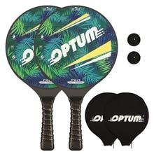 OPTUM 3K 탄소 섬유 전문 Matkot 패들 비치 테니스 라켓 게임 프로 패들 Matka 커버 가방