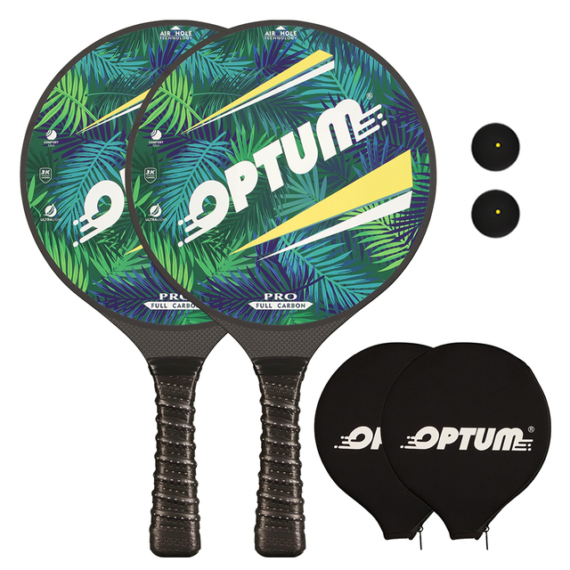 OPTUM 3K Углеродное волокно Профессиональный маткот весло для пляжного тенниса ракетка для игры про весло матка с чехлом