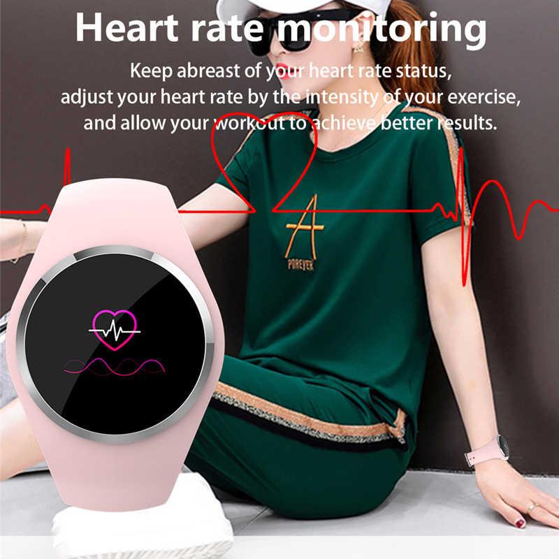 Q1 bluetooth senhora relógio inteligente moda feminina monitor de freqüência cardíaca fitness rastreador smartwatch app suporte para android ios pk q8 q9