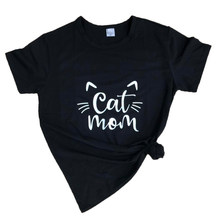Black cat mom Mother harajuku grunge style graphic funny t-shirt Fashion Harajuku instagram Top tees for summer style clothing