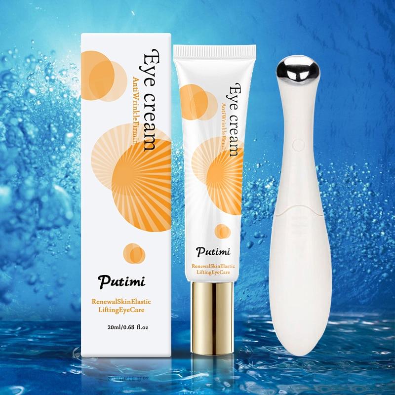 Anti-Oxidation Brighten Face Cream Shrink Pores Hyaluronic Acid Moisturizer Cream Anti Aging Eye Cream Dark Circles Eye Massager 9