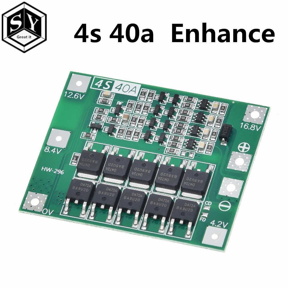 3 S/4S 40A 60A Li-ion cargador de batería de litio Placa de protección 18650 BMS para Motor de perforación 11,1 V 12,6 V/V mejora 14,8 16,8 V/equilibrio
