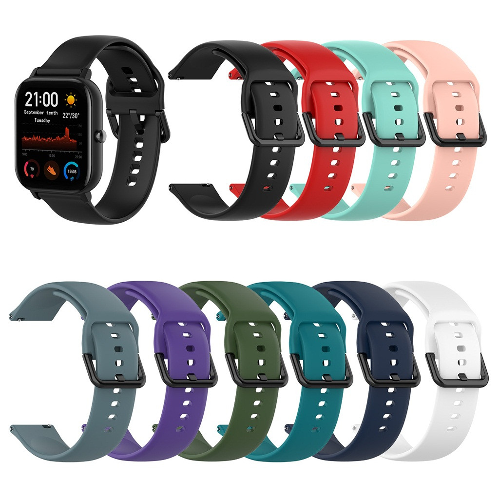 Straps For Huami Amazfit GTS Sport Soft Silicone Replacement Watch Band Wrist Straps For Huami Amazfit GTS Smart Accessories