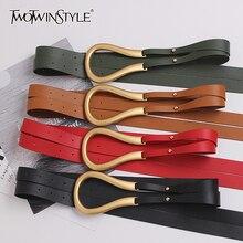Belts TWOTWINSTYLE Fashion-Accessories Double-Long-Belt Female Women's Novelty for Tide