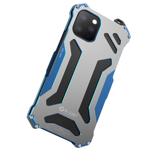 Image 5 - R JUST Aircraft Aluminum Bumper Case for Iphone 11 11 Pro Iphone 11Pro MAX Anti knock Shockproof Metal Frame Back Cover