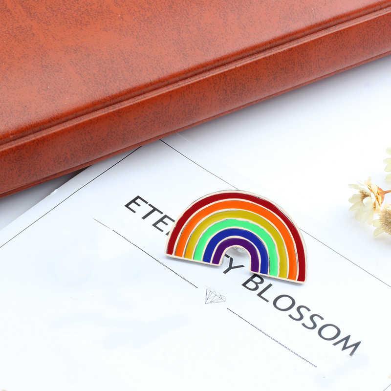 การ์ตูน Pride Rainbow แคคตัสนกเข็มกลัด Badge เคลือบ Pins กีต้าร์สับปะรดแว่นตากันแดดหมวก Lapel Pins DENIM PIN ของขวัญเครื่องประดับ