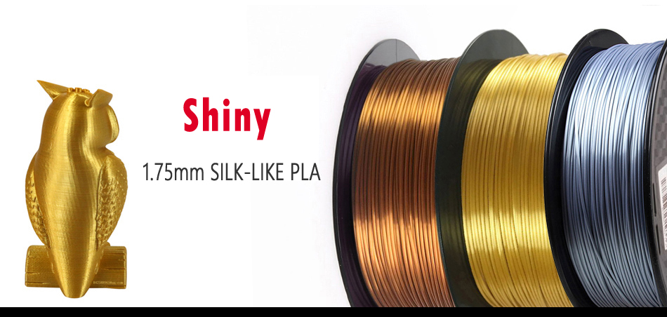 3D Printer Filament Silk Texture Feeling Gold 1kg Silky Rich Luster PLA Copper Golden Silver 3d Printing Materials 25 color