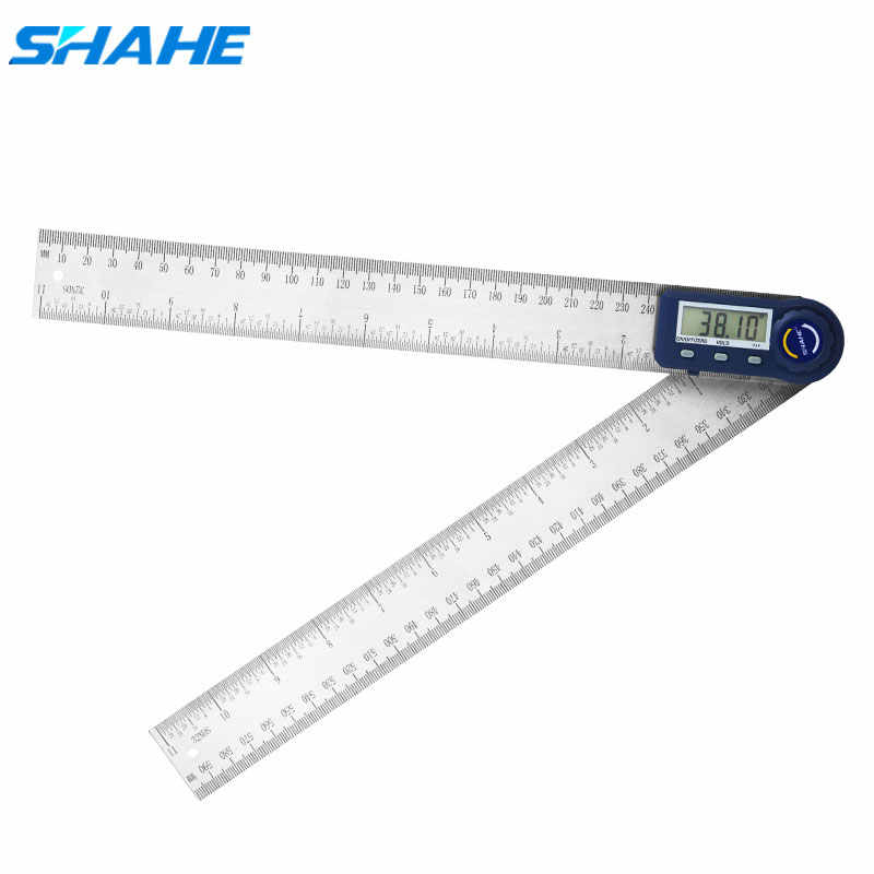 Shahe 300 mm12 inch Rvs Digitale Hoek Heerser Elektronische goniometer inclinometer digitale hoek gauge
