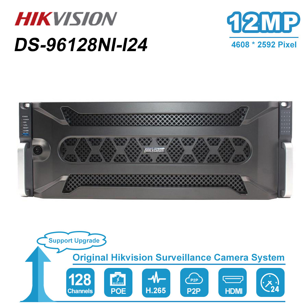 Hikvision New Super NVR 128 Channel Up To <font><b>12</b></font> MP Resolution Video Outputs Up To 4K Resolution 24 <font><b>SATA</b></font> Interfaces DS-96128NI-I24 image