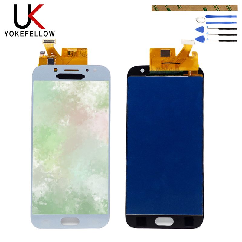 <font><b>LCD</b></font> Display For Samsung Galaxy J530 J530F J530FM SM-J530F <font><b>J5</b></font> <font><b>Pro</b></font> 2017 <font><b>LCD</b></font> Display Digitizer Screen With Touch Complete Assembly image
