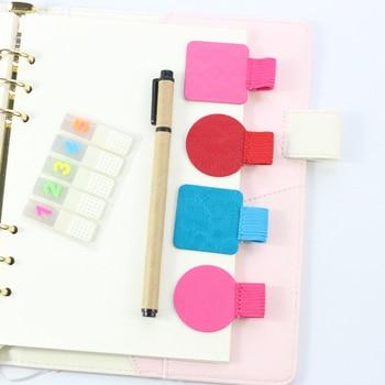 Akcesoria do notebooków samoprzylepne skórzane obsadka do pióra twórczy trend pasek gumowy pasek obsadka do pióra