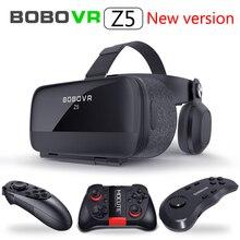 새로운 글로벌 버전 BOBOVR Z5 가상 현실 헤드셋 VR Box 3D 안경 백일몽 스마트 폰용 골판지 전체 패키지 게임 패드